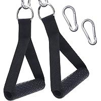XYZDOUBLE 2 stuks eenhands handgrepen voor weerstandsbanden, siliconen handgrepen, kabeltrekgreep voor fitnessbanden…