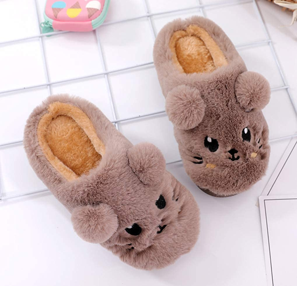 Cwait Winter Animal Warm Kids Slippers Cute House Shoes Toddler Little Kid