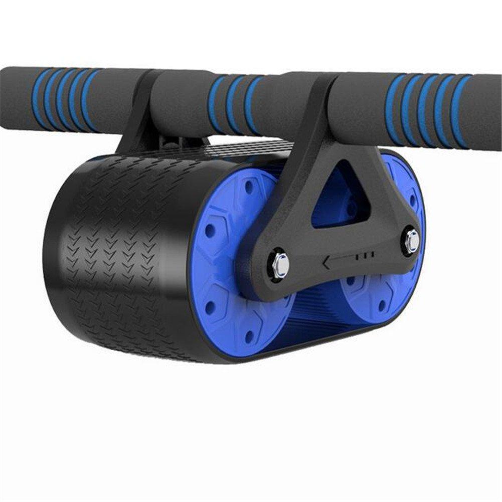 WYF Fitness AB Roller Bauchmuskeln Trainingsgerät Core Training mit Knieschoner Body Strength Trainer Workout Blau