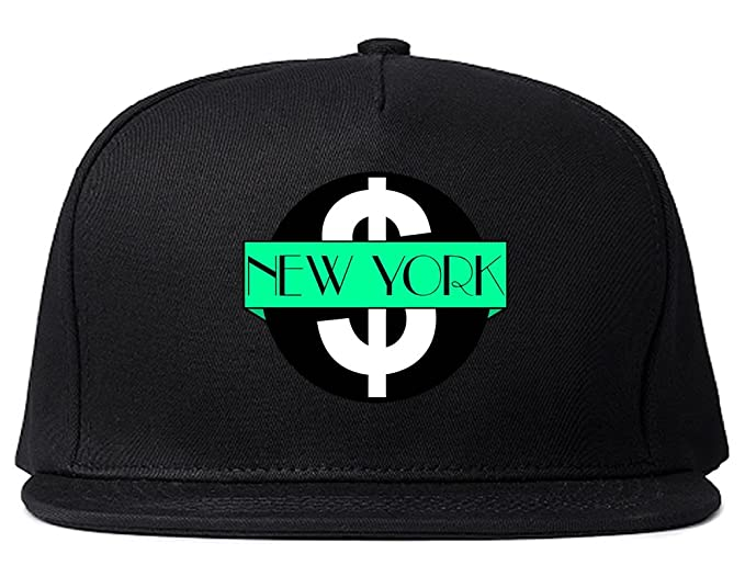c4c307a9116 Kings Of NY New York Mint NYC Logo Green Brooklyn Snapback Hat Black