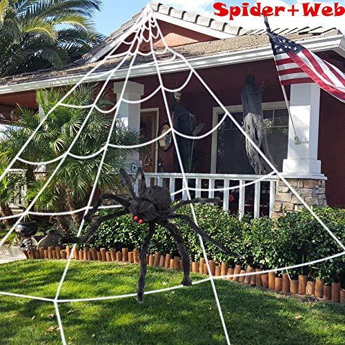 HUFUN Halloween Spider Decorations 2 Pack (1 Spider