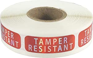 "Tamper-Resistant Holographic Labels, 0.5"" x 1.5"" Adhesive Stickers, 500-Pack"