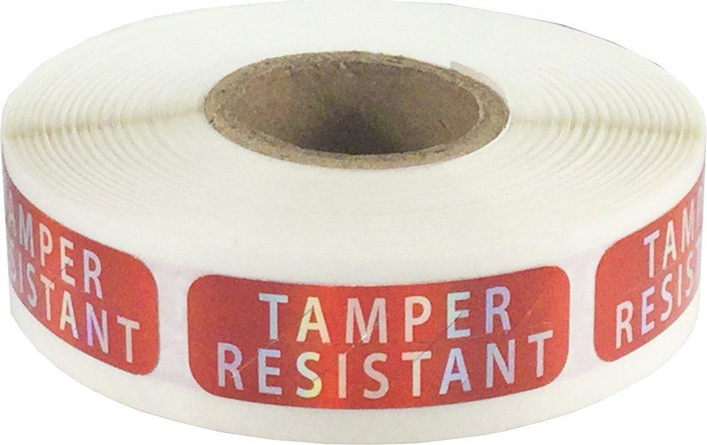500 Etiquetas en un Rollo Holograma Rojo Resistente a la Manipulaci/ón Pegatinas 13 x 38 mm 1//2 x 1 1//2 Pulgadas de Ancho