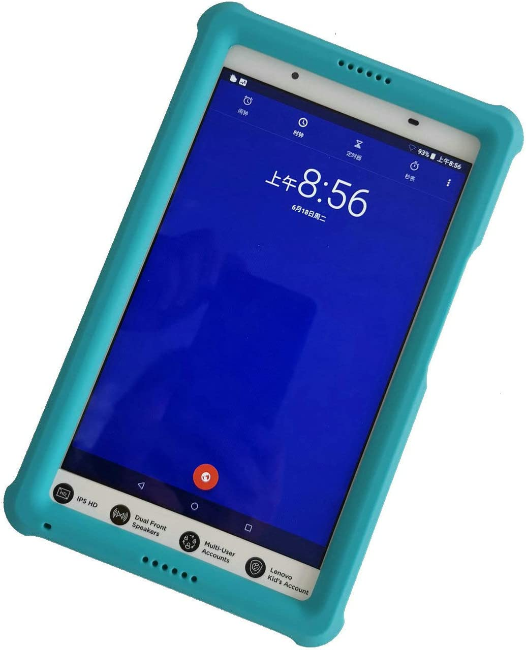 "MingShore Rugged Case Compatible for Lenovo Tab 4 8 inch TB-8504F TB-8504X, Kid Friendly Protective Silicone Heavy Duty Cover for Fit Lenovo Tab 4 8"" HD Android Tablet 2017 Release (Turquoise)"