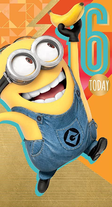 Amazon.com: Official Despicable Me 2 Minions 6th Tarjeta de ...