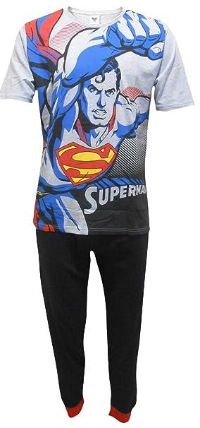 Superman DC Comics Hombres Flying Set de Pijama de Dos Piezas - Pequeño