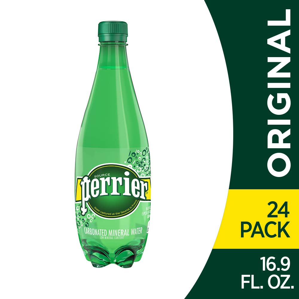 Perrier Carbonated Mineral Water, 16.9 Fl Oz (Pack of 24) Plastic Bottles by Perrier