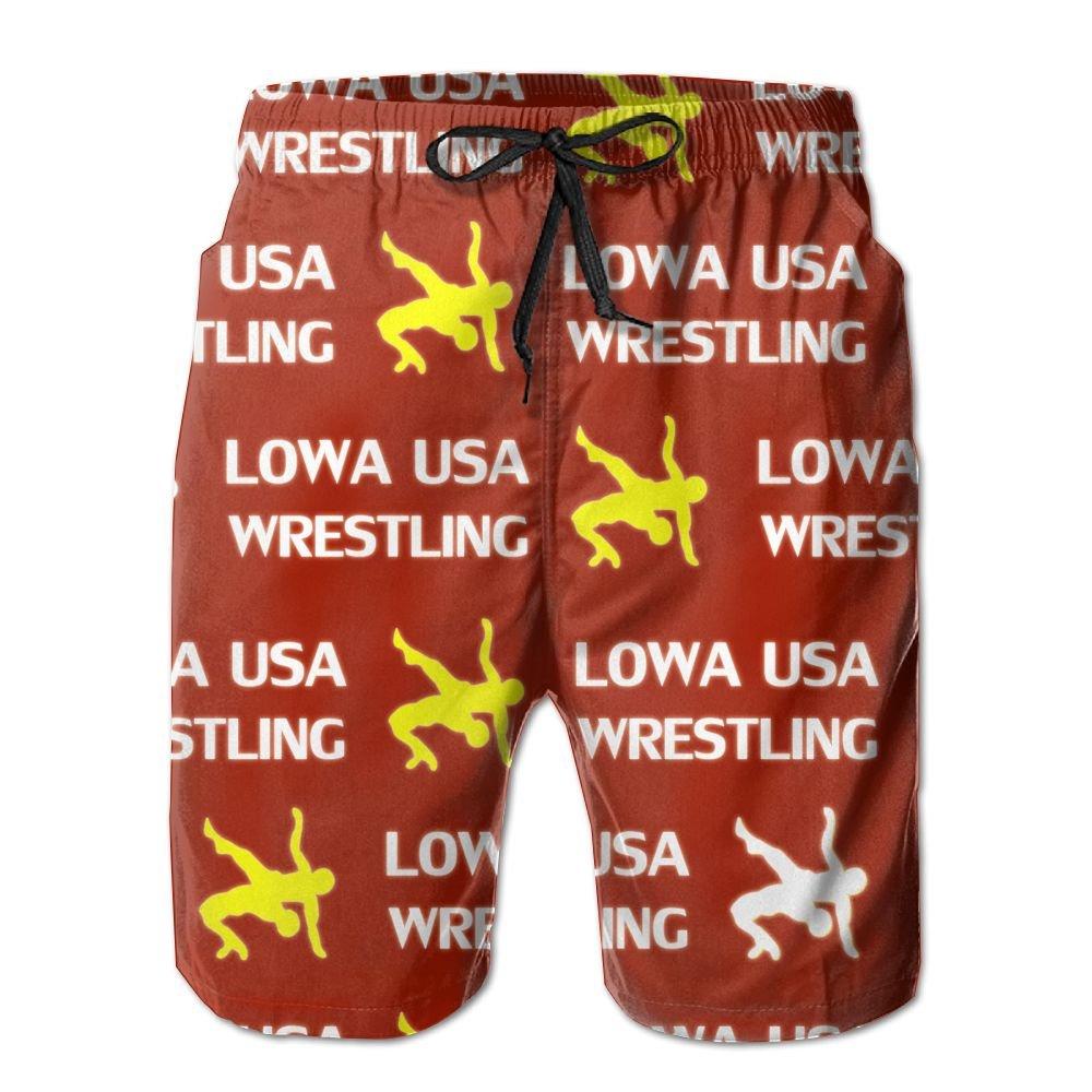 Oct USA Wrestling Logo Lined Mens Boardshorts Swim Trunks Tropical Soccer Board Shorts Bathing Swim Trunks