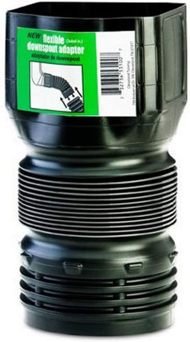 Flex-Drain ADP53102 Downspout Adaptor, Landscaping Drain Pipe Adapter 3 by 4 by 4-Inch : Gutter : Garden & Outdoor