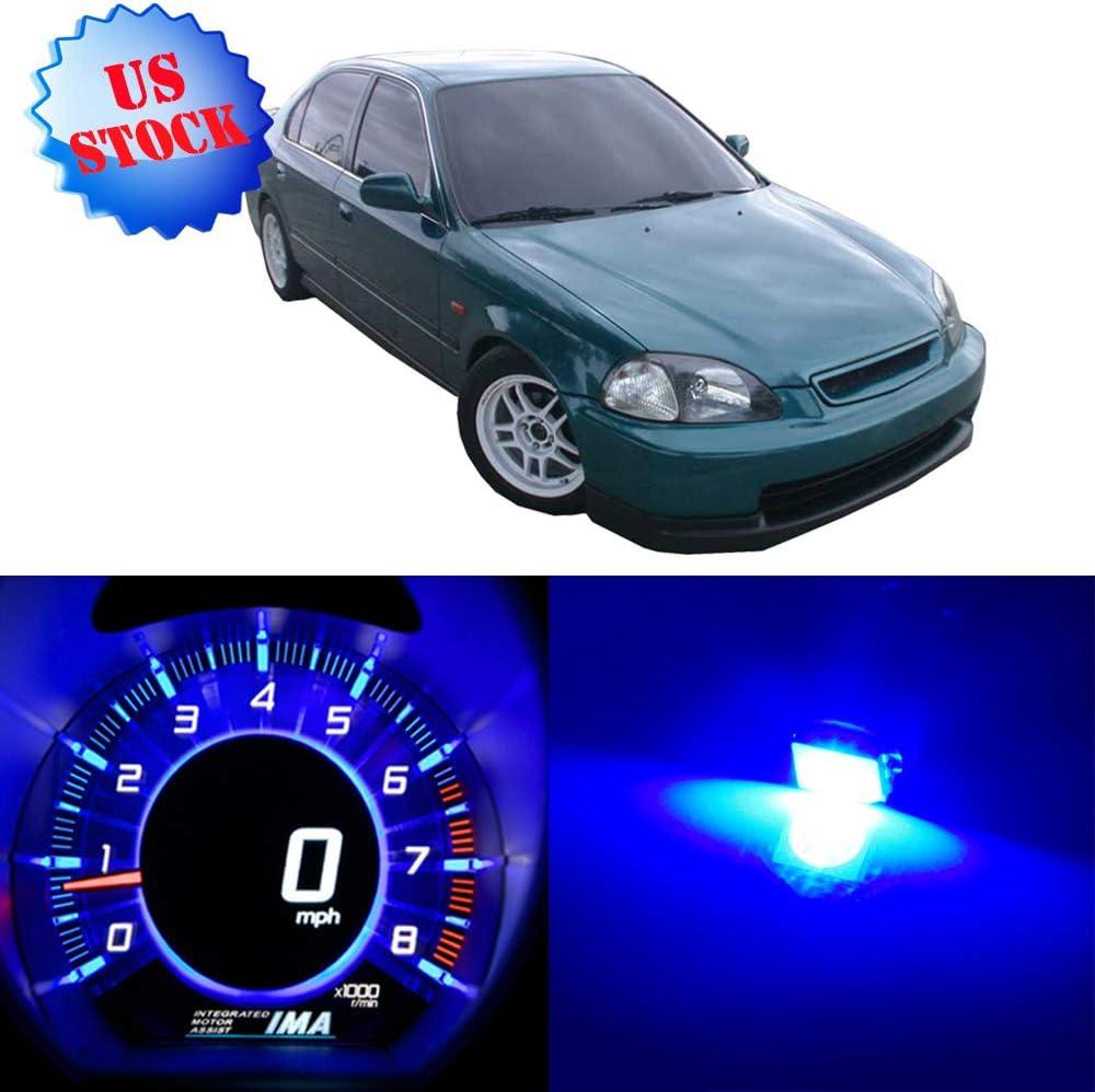 TUPARTS Blue Dash Light Instrument Panel Gauge Lights Kits for 1999-2000 Honda Civic,24Pcs