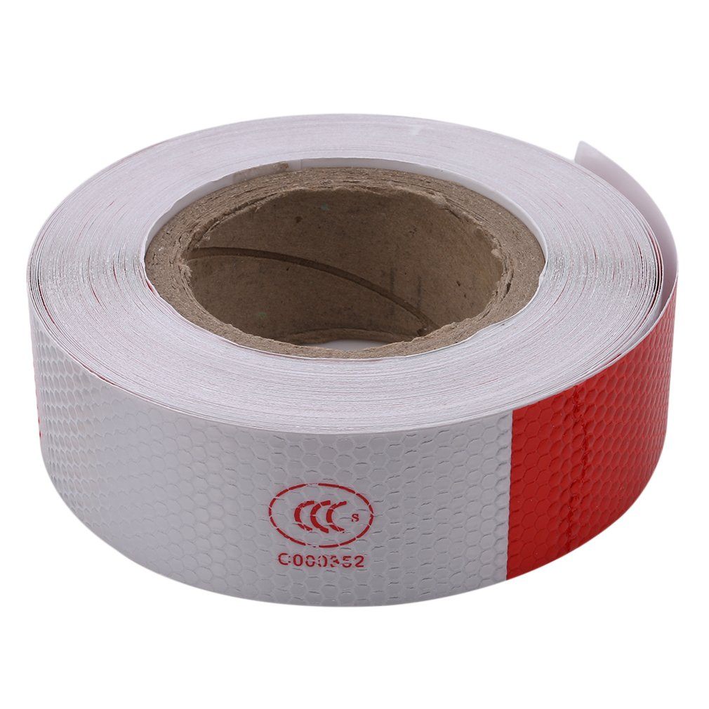VWH Red/White Reflective Safety Warning Conspicuity Tape Sticker for Automobiles Truck Car Accessories