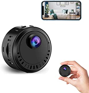 Hidden Camera WiFi Spy Camera Wireless Mini Remote View Nanny Cam Motion Sensor 1080P HD Camera Night Vision Surveillance Cam with Phone APP Live Feed Small Covert Camera for Security Indoor Office