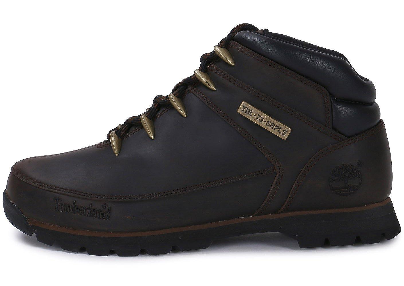 4d22e242791 Timberland Mens Euro Sprint Hiker Dark Brown A11ZM Leather Boots 6.5 ...
