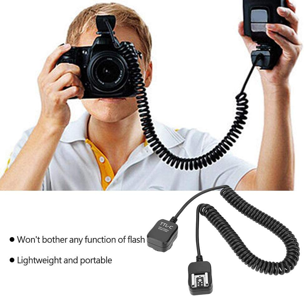 for Canon TTL Off Camera Flash Sync Extension Cord for Nikon//Canon Cameras Mugast 0.8m TTL Off Cord
