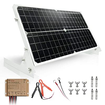 TP-solar 30W 12V Solar Panel kit Battery Charger Maintainer + 10A Waterproof Solar Charge Controller + Adjustable Mount Tilt Rack Bracket for Car RV Marine Boat 12 Volt Battery Off Grid: Home Audio & Theater