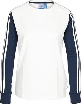 Adidas 3 S LS tee Camiseta de Manga Larga, Mujer, (Blanco/Azumis), 38: Amazon.es: Deportes y aire libre