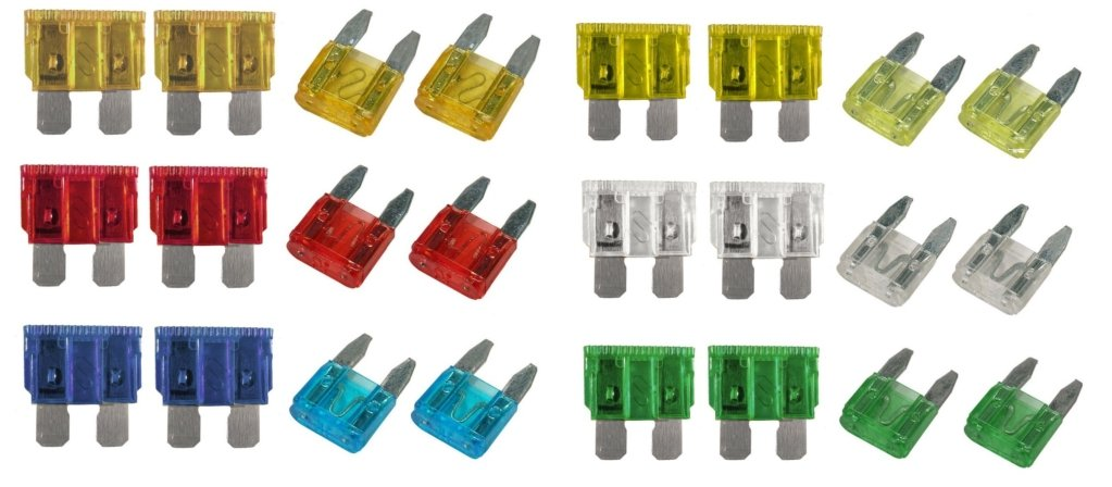 CAR BLADE FUSE REPLACEMENT Mini Standard Fuse Box Kit 5 10 15 20 25 30 AMP wlw