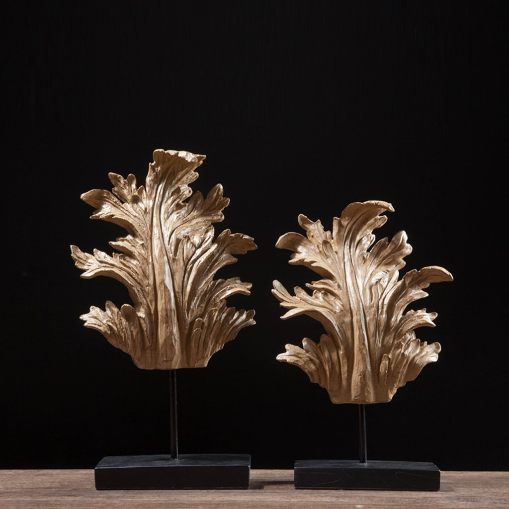 North America Resin Leaves Home Decoration Wine cabinet decorations indoor living room coffee table TV cabinet office desk Wedding Gifts by MYH-US (Image #2)