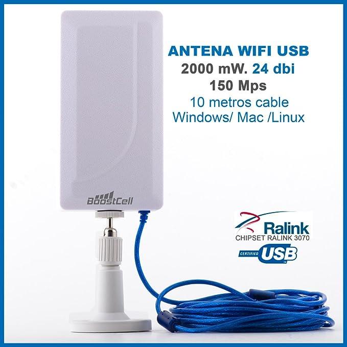 BOOSTCELL Antena WiFi USB DE Largo Alcance (24 DBI): Amazon.es ...