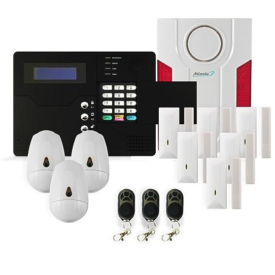 alarme maison gsm sans fil fabulous kit alarme kit alarme maison sans fil gsmpstn cran lcd ir. Black Bedroom Furniture Sets. Home Design Ideas