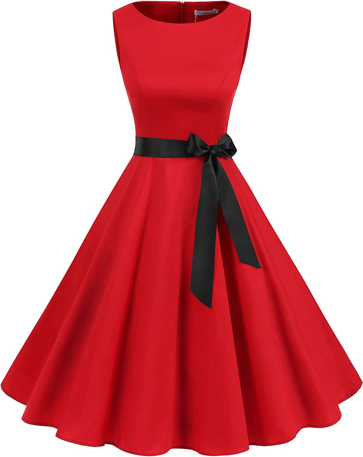 Gardenwed Women's Audrey Hepburn Rockabilly Vintage Dress 1950s Retro Cocktail Swing Party Dress