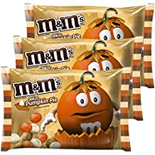 M&Ms Milk Chocolate Candies White Pumpkin Pie Artificial Flavor 8.0 Oz Bag Pack of 3 | Limited Edition - Autumn, Fall & Winter Themed Candy