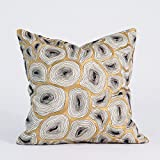 Global Views French Modern Antique Gold and Black Agate Pillow