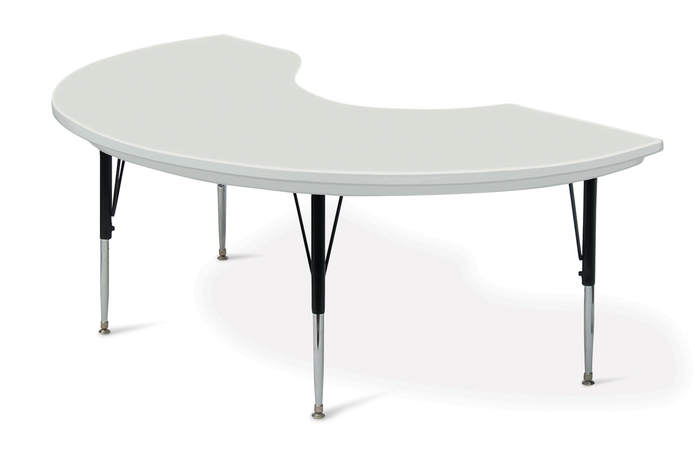 Correll AR4872-KID-23 Kidney-Shaped Resin Activity Table, 48'' x 72'', Gray Granite