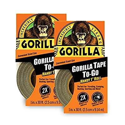 "Gorilla Tape, Mini Duct Tape to-Go, 1"" x 10 yd Travel Size from Gorilla"