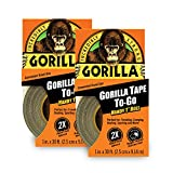 Gorilla Tape, Mini Duct Tape To-Go, 1' x 10 yd Travel Size,...