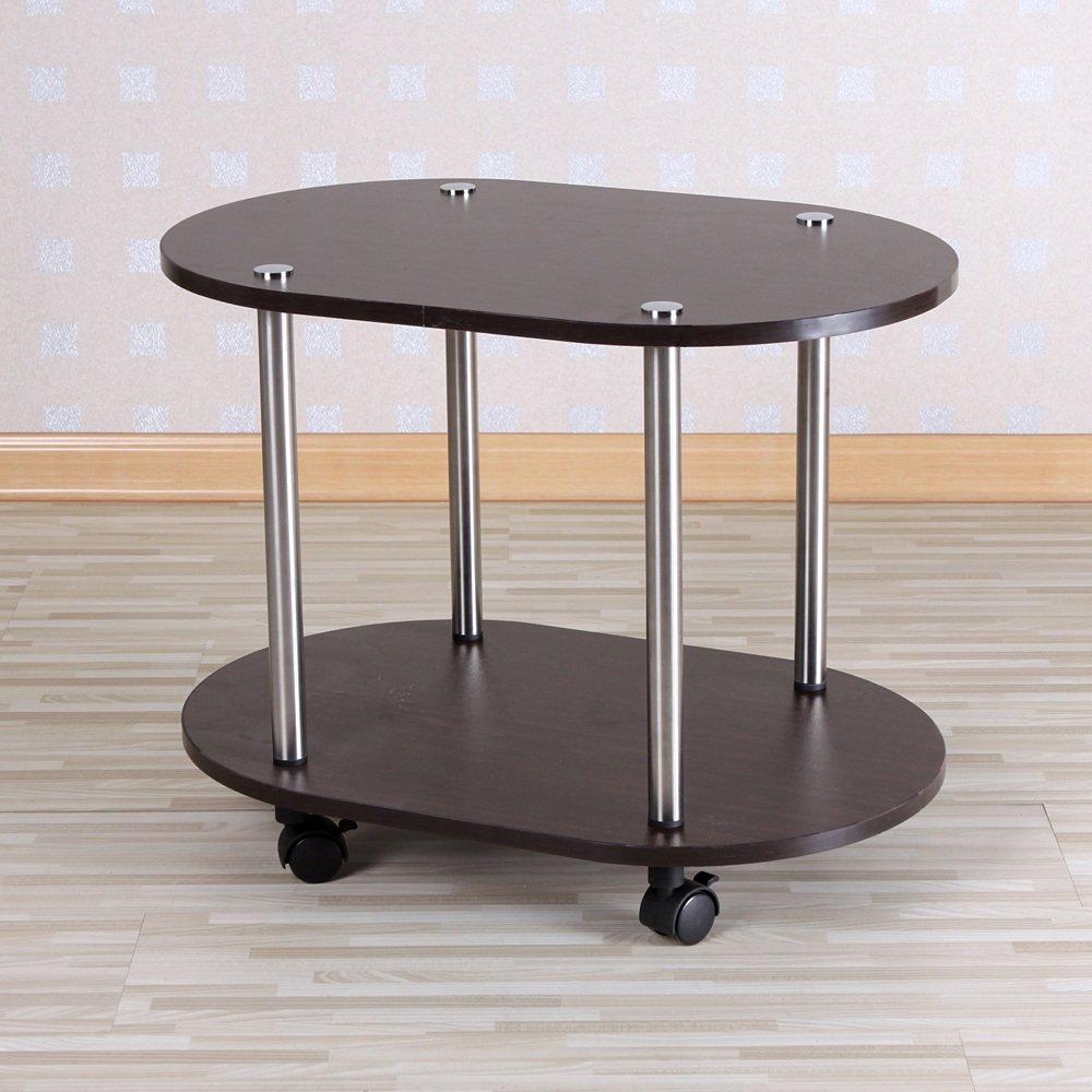 ZR- Tavolino Da Caffè Semplice Tavolo D'angolo Moda Semplice Tavolo Da Tè Può Muoversi Porta-tè Montare Il Carrello Del Tè Tavolino (Colore : Nero) ZHANGRONG