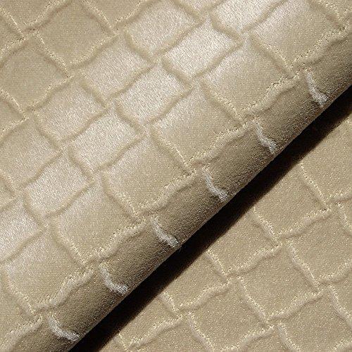 - Joseph Noble Beige Taupe Velvet Mohair Diamond Pattern Upholstery Fabric by the yard