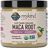 Garden of Life mykind Organics Fair Trade Organic Gelatinized Peruvian Maca Root Energy Boost 7.93 oz (225g) Powder with Probiotics, Certified Organic, Non-GMO, Vegan & Gluten Free Herbal Supplements