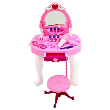 innovative design f9865 c210d Oypla Childrens Kids Girls Play Toy Dressing Table Glamour Mirror