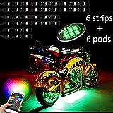 Million Color 6pc strip + 6pc pod led Motorcycle golf Cel...