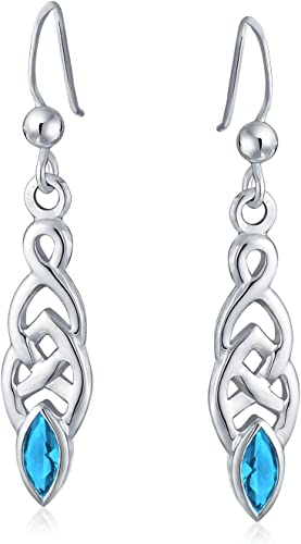 Silver-tone Aqua Blue-Dyed Round Shell Dangle Earrings