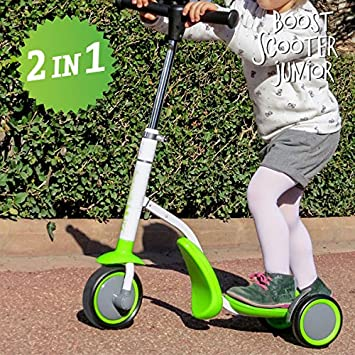 qtimber Patinete-Triciclo Boost Scooter Junior 2 en 1 (3 ...