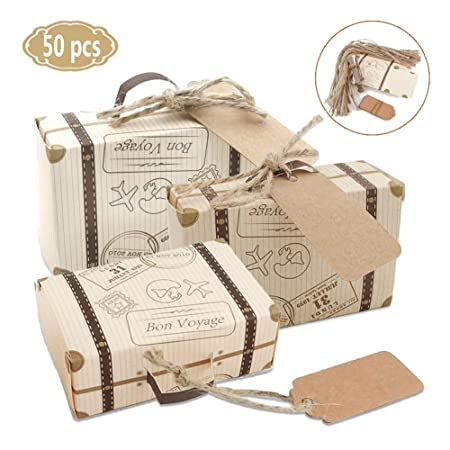 Sharlity Paquete DE 50 Bolsas de Regalo para Dulces, diseño ...