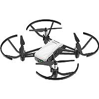 Tello Intelligent Quadcopter Drone with 5MP 720p HD Camera Smartphone Control (White & Black)