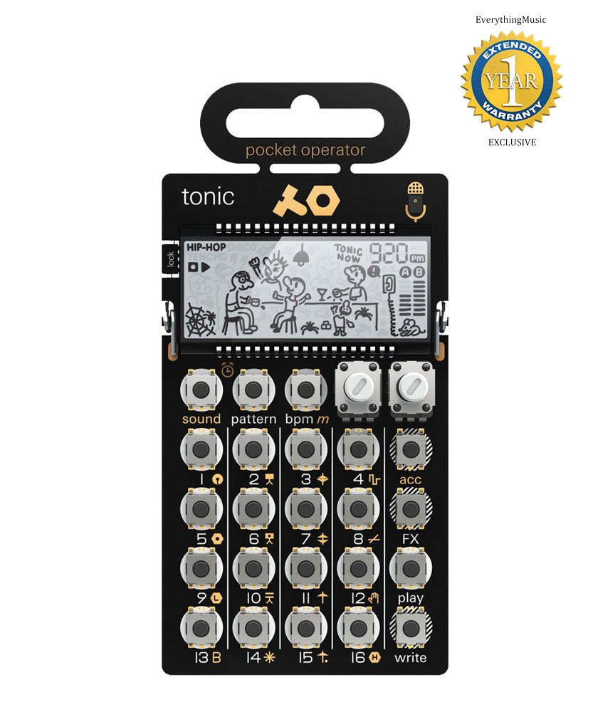 Teenage Engineering 010 AS 032 PO-32 Pocket Operator Tonic Battery-powered Drum/Percussion Synthesizer with 1 Year Free Extended Warranty PO-32 Tonic