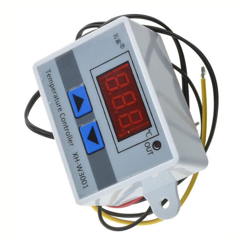 Febelle Digital LED contr/ôleur de temp/érature Thermostat commutateur de Commande Sonde