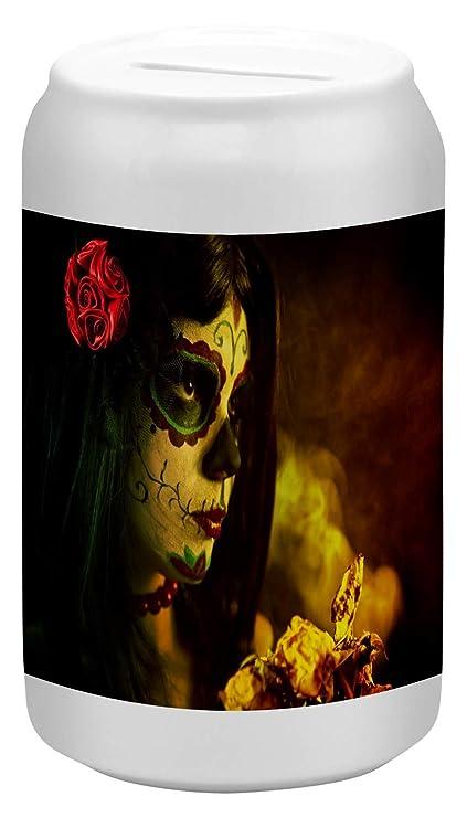 Hucha Fantasy Gothic Tatuaje máscara Ceramica impreso