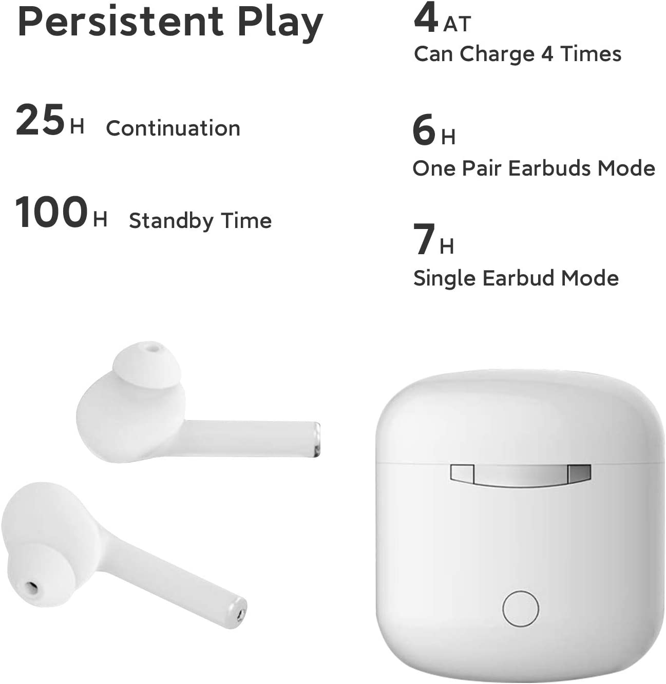 Wireless Headphones Aoslen Bluetooth Headphones In Ear 5.0 Wireless Earphones Touch Control Earbuds 20H Playtime Built-in Dual Mic//HiFi stereo With Charging Case for IOS Android Samsung Huawei