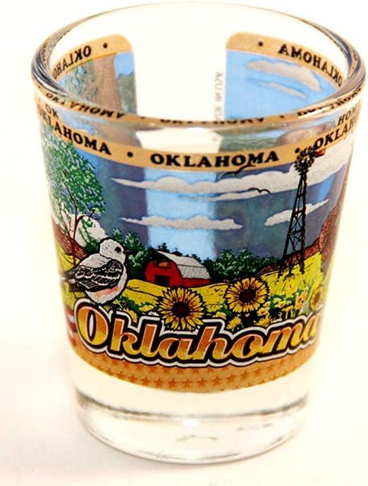 Oklahoma State Buffalo-USA Flag Shot Glass rtp