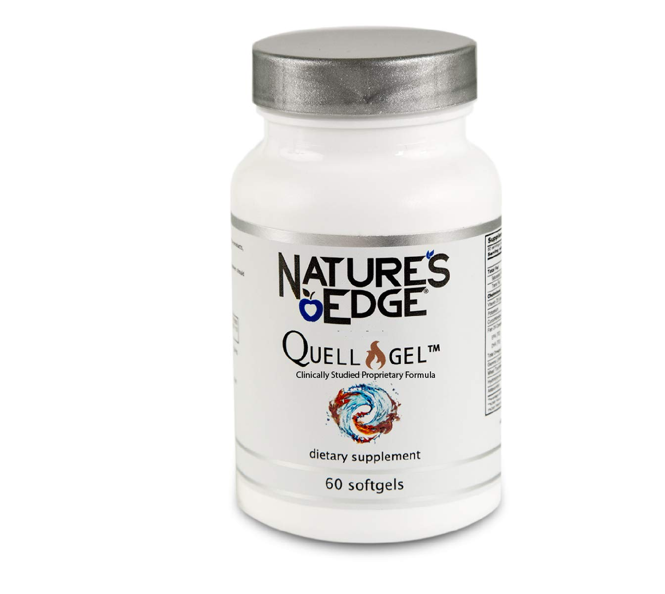 Nature's Edge® Clinically Tested Quell-GelTM Whole Body Anti-Inflammation Support for Daily Use [60 Softgels] | Proprietary Formula | Omega-3,Vitamin D3, Curcuminoids,Tocotrienols,Organic Hemp & More by Nature's Edge
