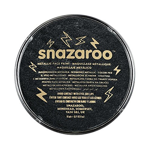 Snazaroo Metallic Face Paint, 18ml, Electric Black ()