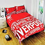 Football Liverpool FC Stripe Panel Double Duvet Cover