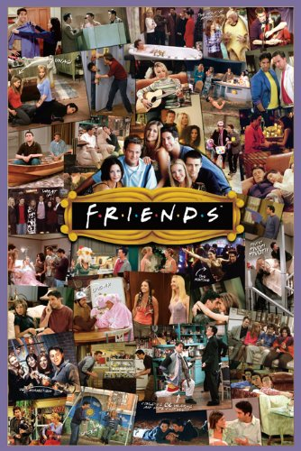 friends montage poster print