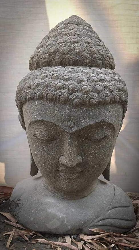 wanda collection Busto de Buda de Piedra de jardín Zen 70 cm: Amazon.es: Jardín