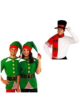Amazon.com: Muñeco de nieve y Jolly Hombres o mujeres Elf ...
